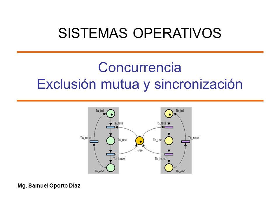 Concurrencia Exclusión mutua y sincronización