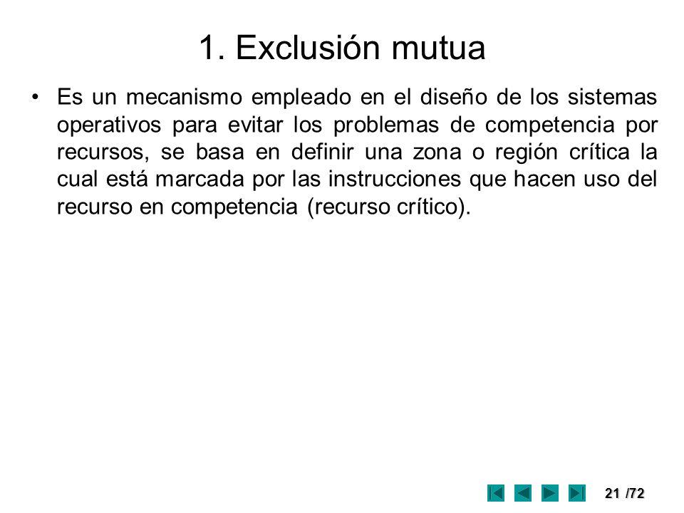 1. Exclusión mutua