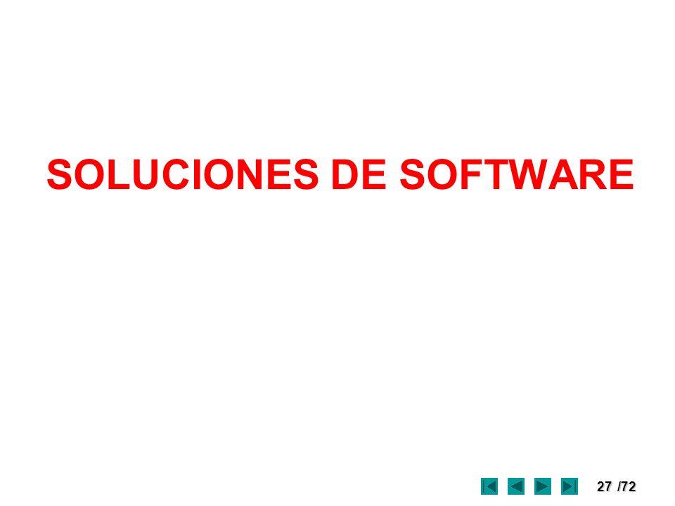SOLUCIONES DE SOFTWARE