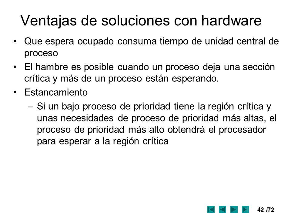 Ventajas de soluciones con hardware