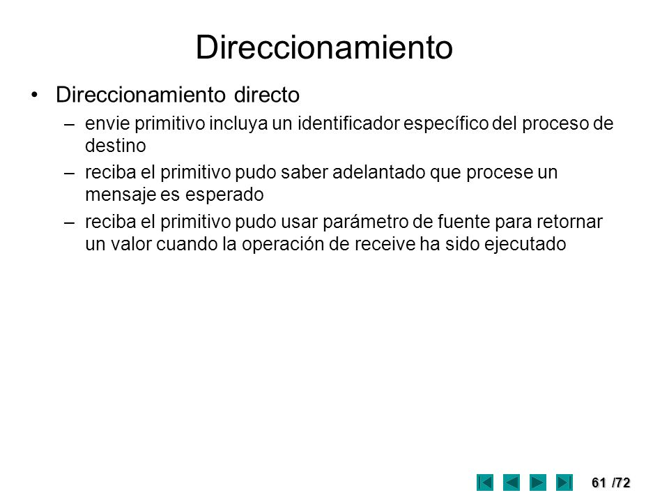 Direccionamiento Direccionamiento directo