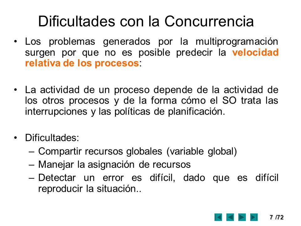 Dificultades con la Concurrencia