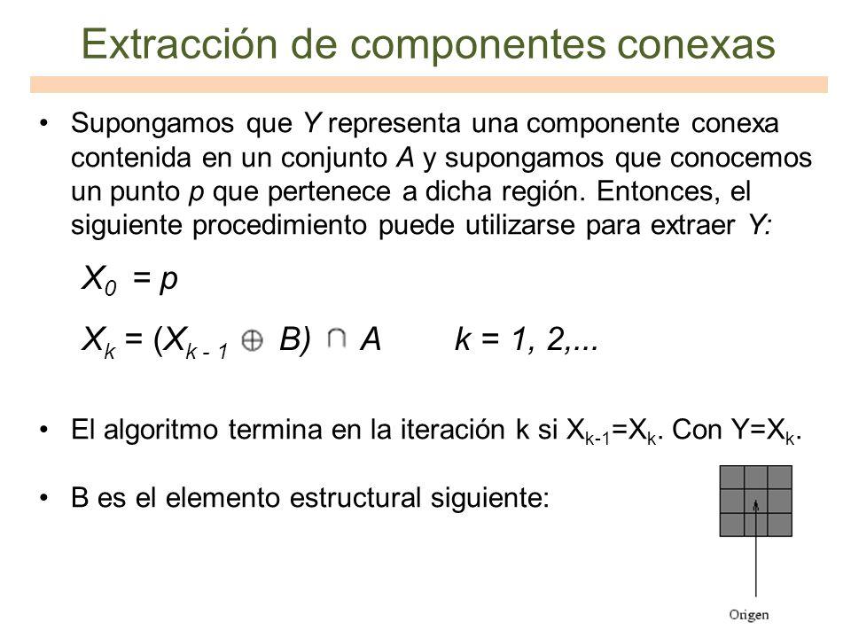 Extracción de componentes conexas