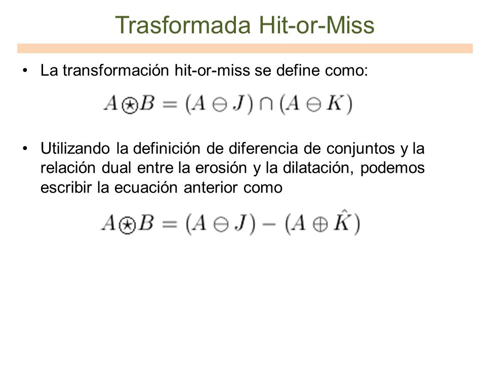 Trasformada Hit-or-Miss