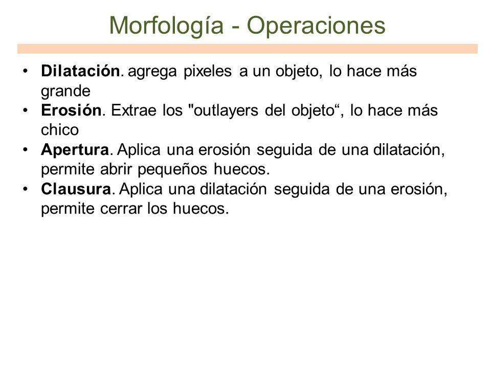 Morfología - Operaciones