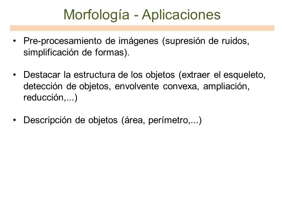 Morfología - Aplicaciones