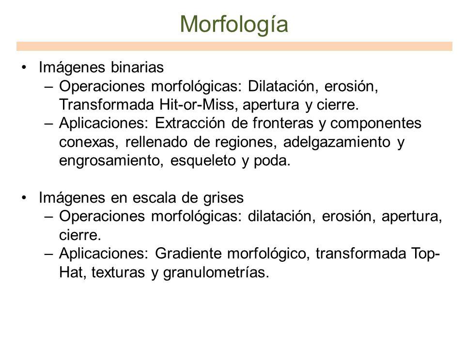 Morfología Imágenes binarias