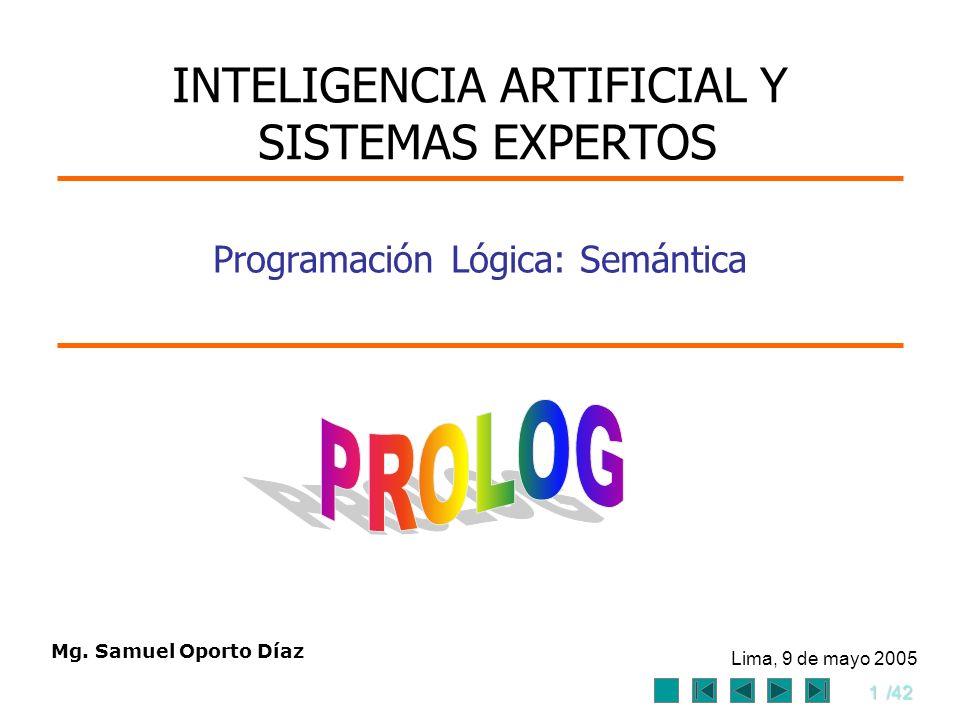 Programación Lógica: Semántica