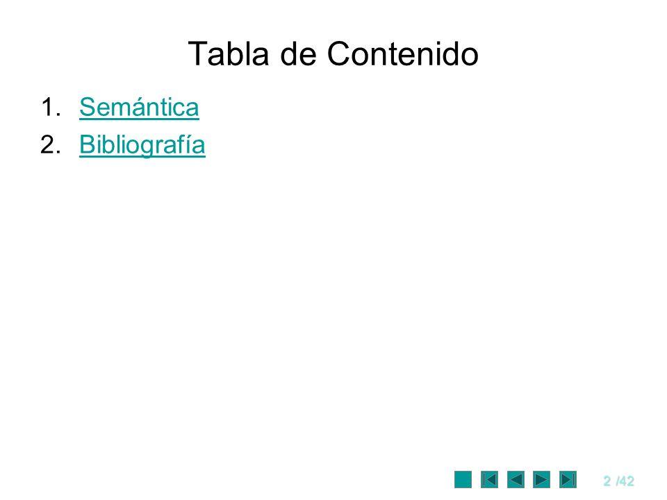 Tabla de Contenido Semántica Bibliografía