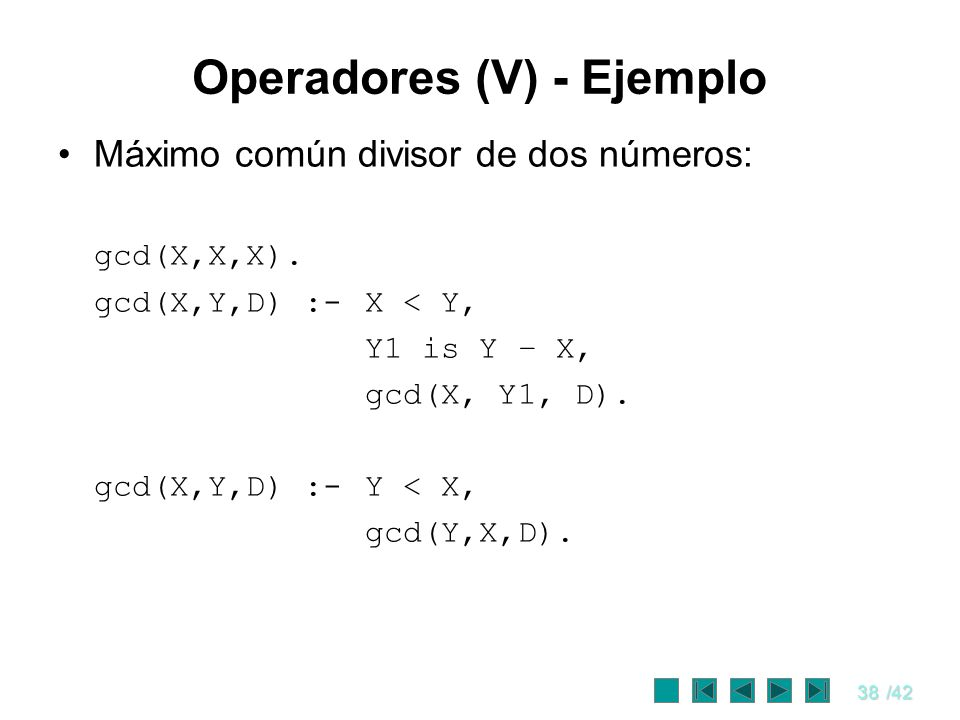 Operadores (V) - Ejemplo