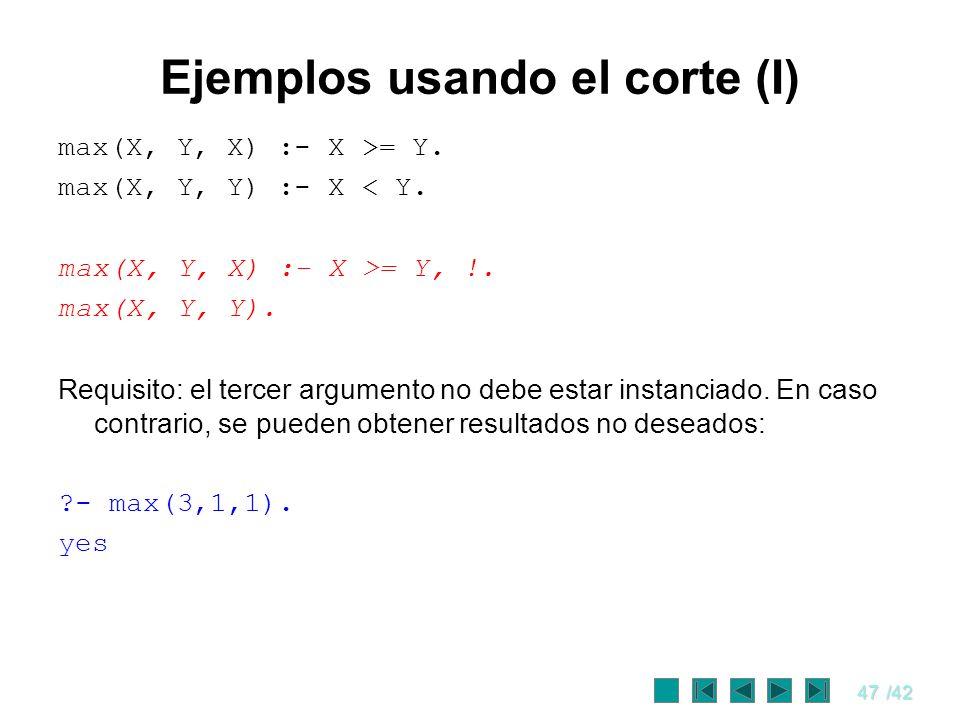 Ejemplos usando el corte (I)