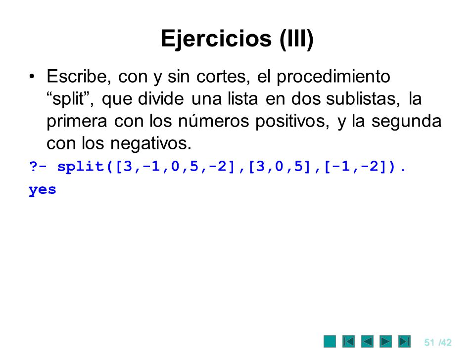 Ejercicios (III)