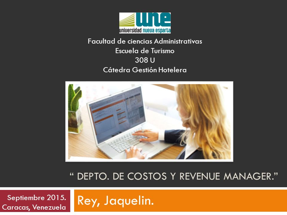 Depto. de Costos y Revenue Manager.