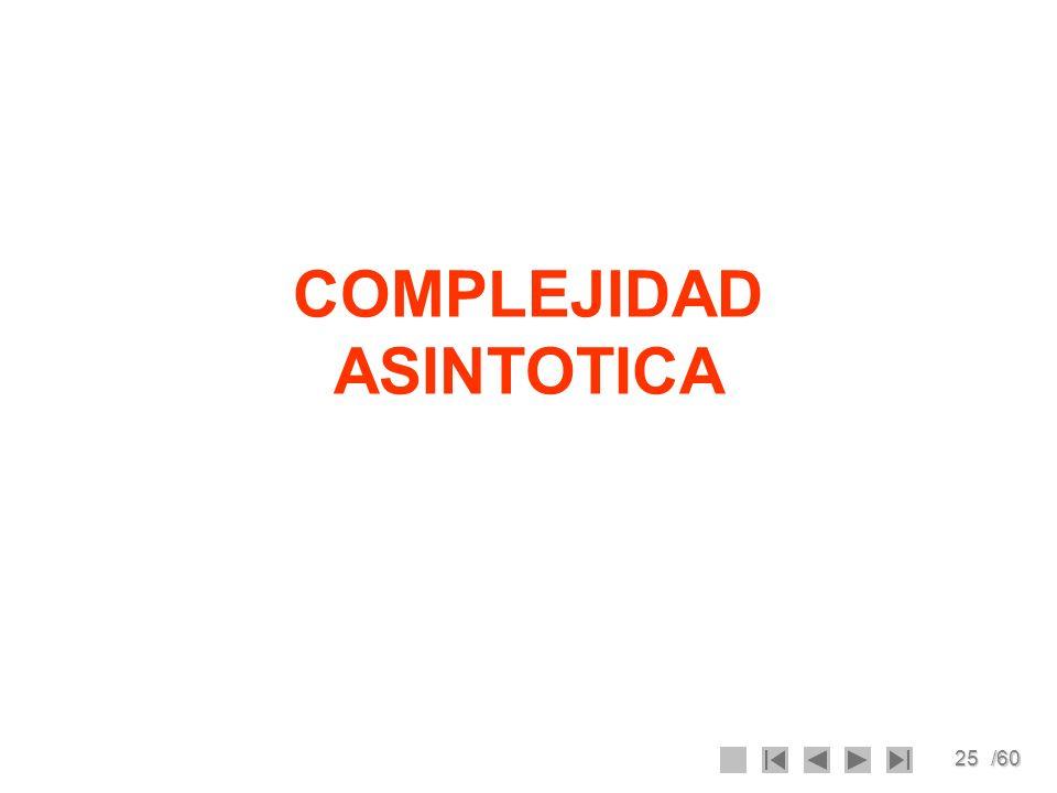COMPLEJIDAD ASINTOTICA