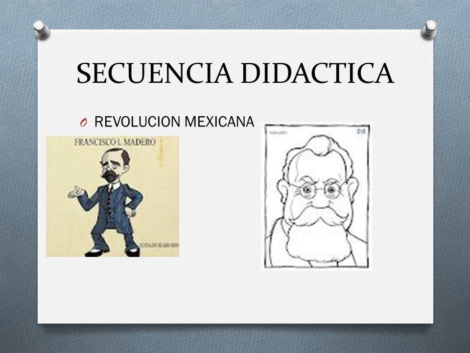 SECUENCIA DIDACTICA REVOLUCION MEXICANA