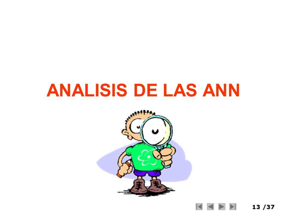 ANALISIS DE LAS ANN
