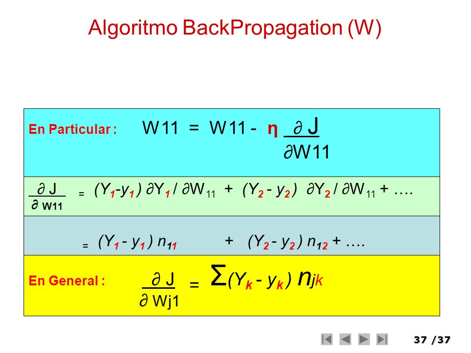 Algoritmo BackPropagation (W)