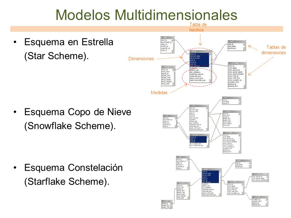 Modelos Multidimensionales
