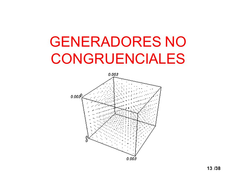 GENERADORES NO CONGRUENCIALES