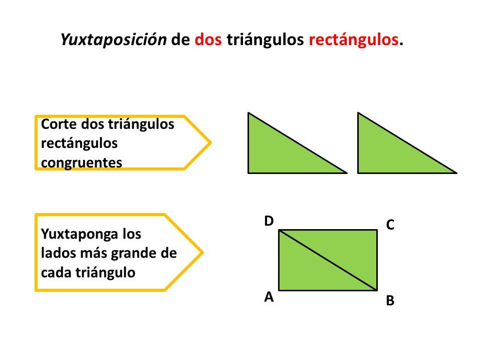 Yuxtaposición de dos triángulos rectángulos.