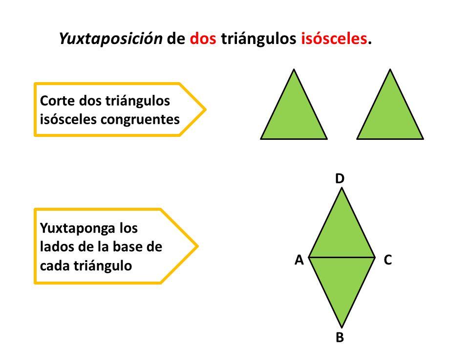 Yuxtaposición de dos triángulos isósceles.