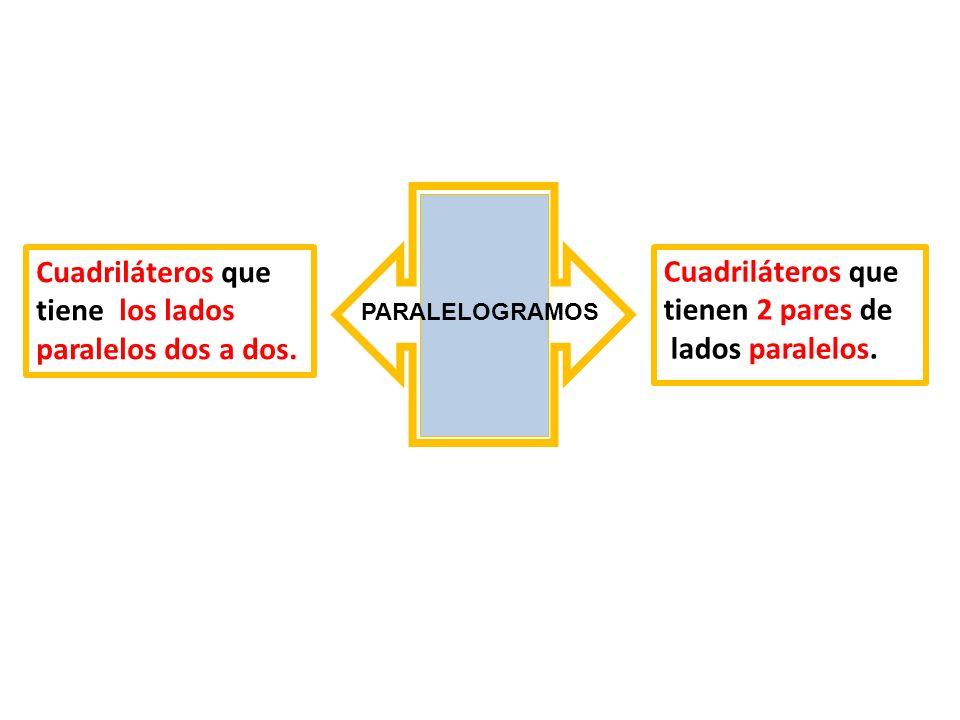 Cuadriláteros que tiene los lados paralelos dos a dos.