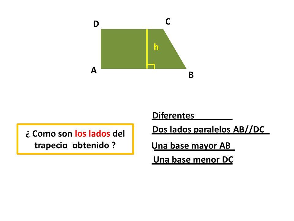 Dos lados paralelos AB//DC