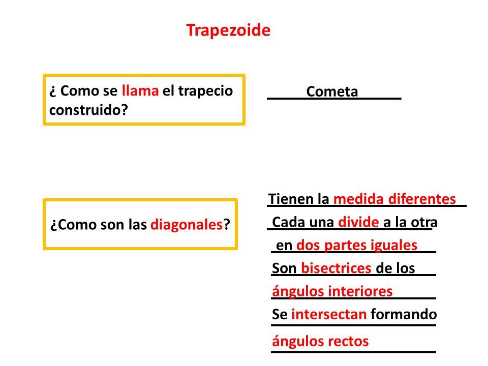 ¿Como son las diagonales