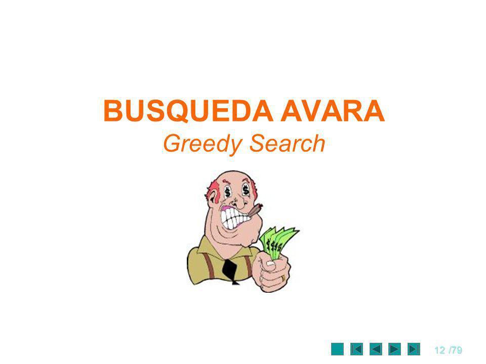 BUSQUEDA AVARA Greedy Search