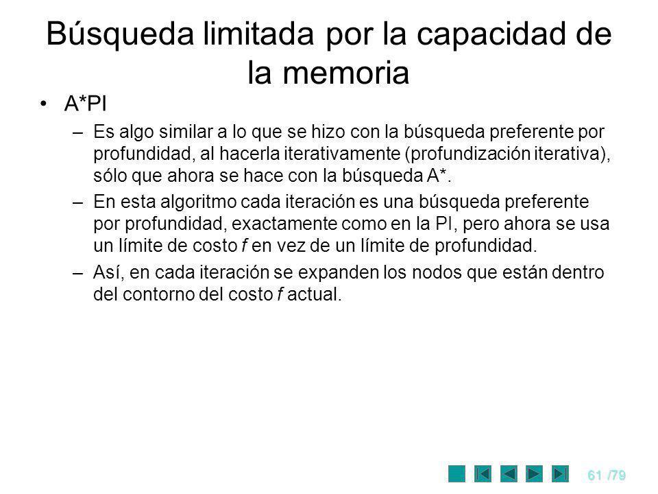 Búsqueda limitada por la capacidad de la memoria