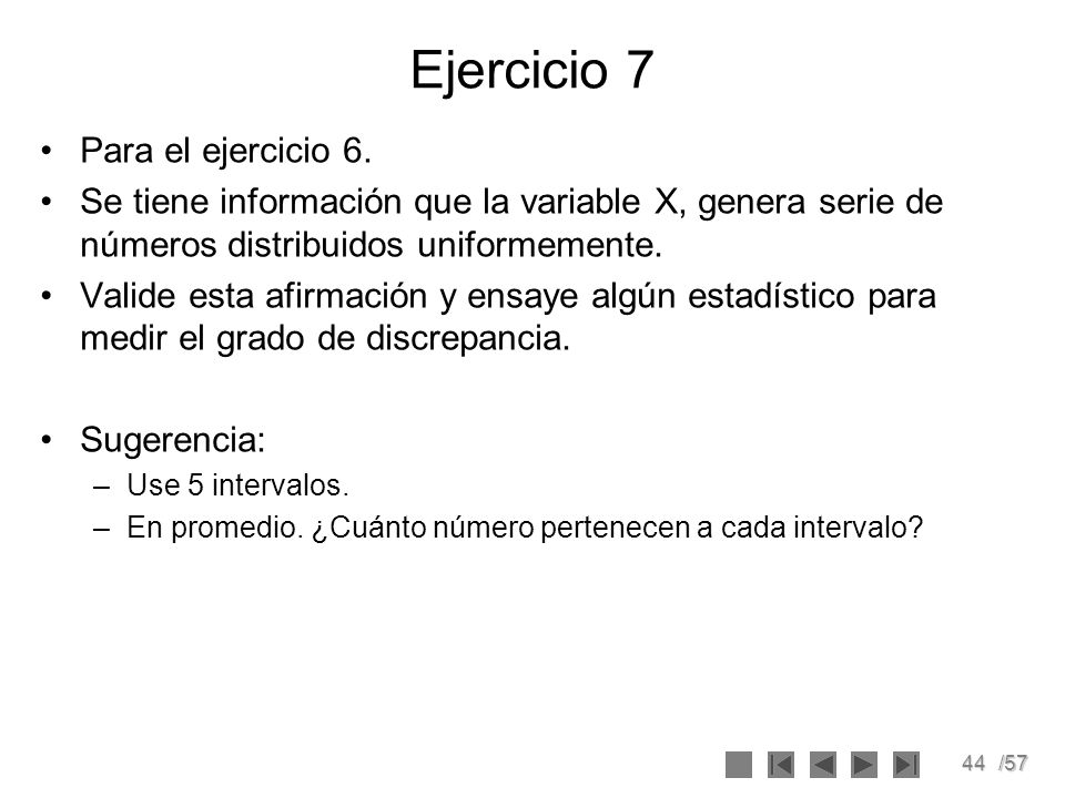 Ejercicio 7 Para el ejercicio 6.