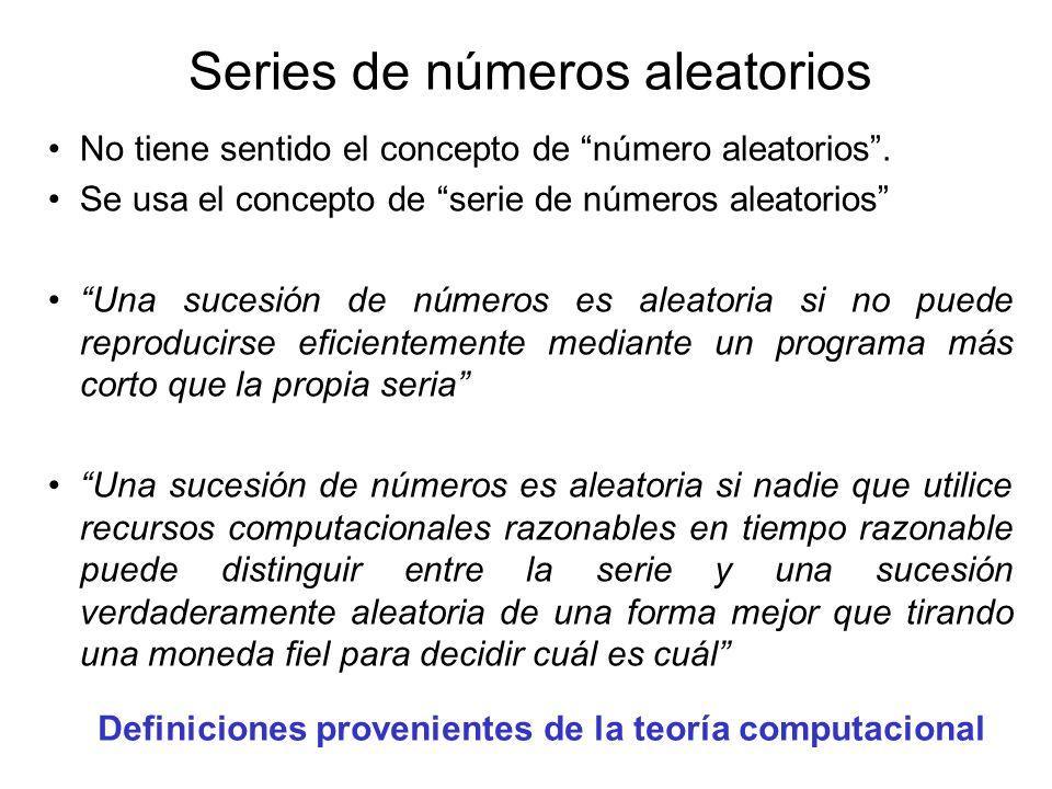 Series de números aleatorios