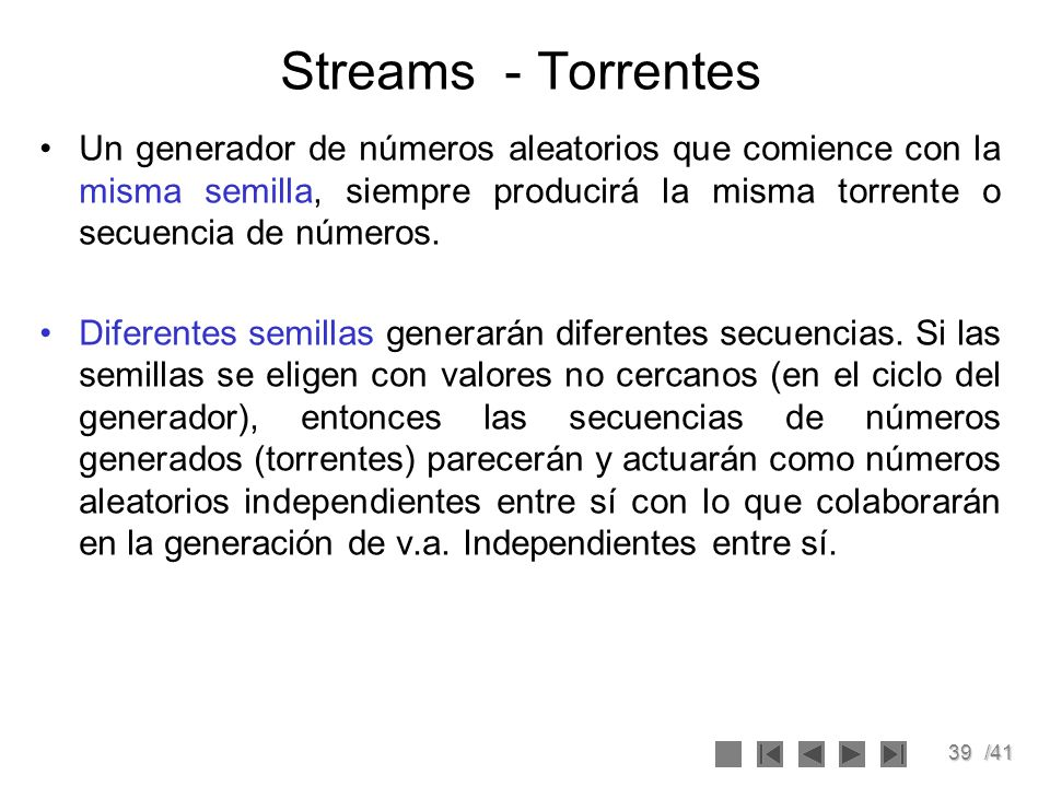 Streams - Torrentes