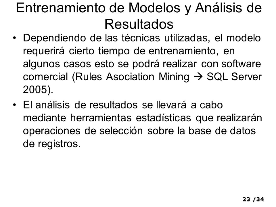 Entrenamiento de Modelos y Análisis de Resultados