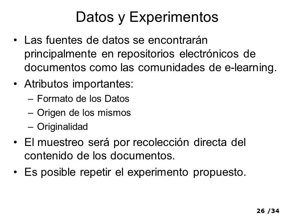 Datos y Experimentos