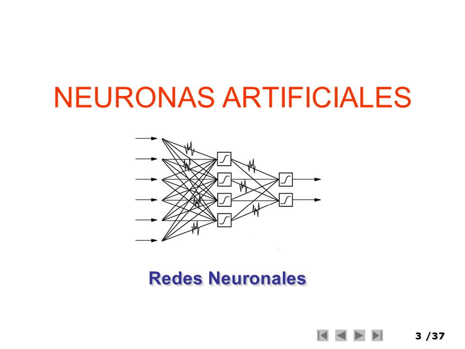 NEURONAS ARTIFICIALES