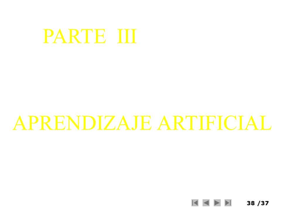 PARTE III APRENDIZAJE ARTIFICIAL