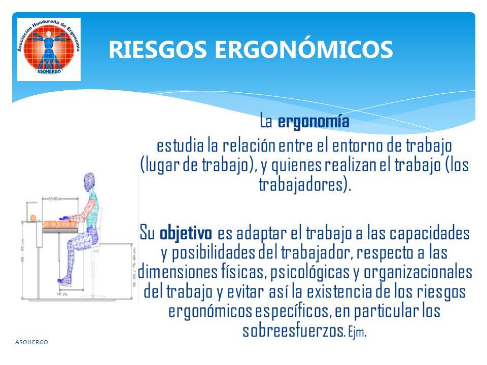 RIESGOS ERGONÓMICOS La ergonomía