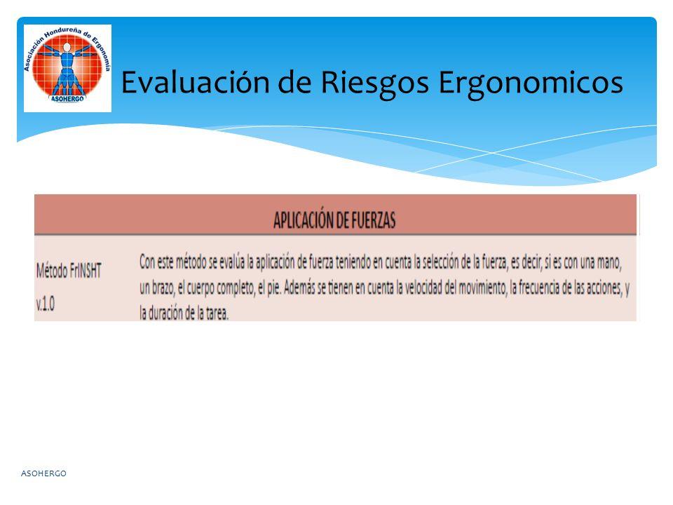 Evaluación de Riesgos Ergonomicos