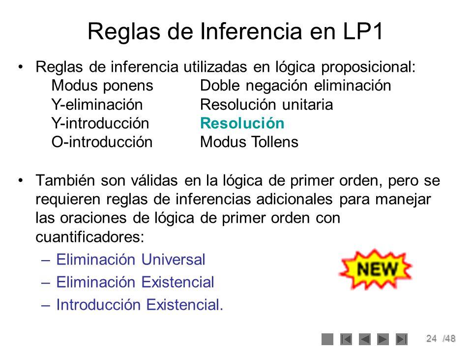 Reglas de Inferencia en LP1