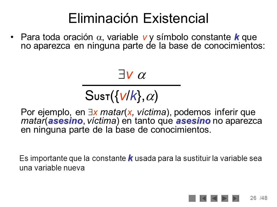 Eliminación Existencial