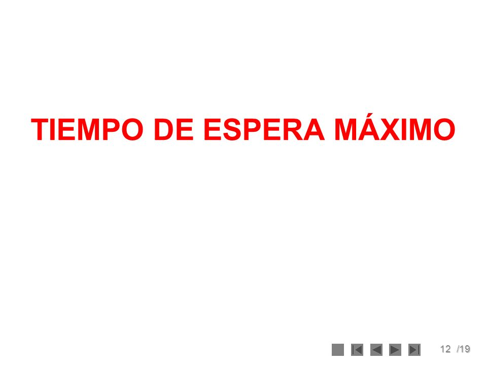 TIEMPO DE ESPERA MÁXIMO