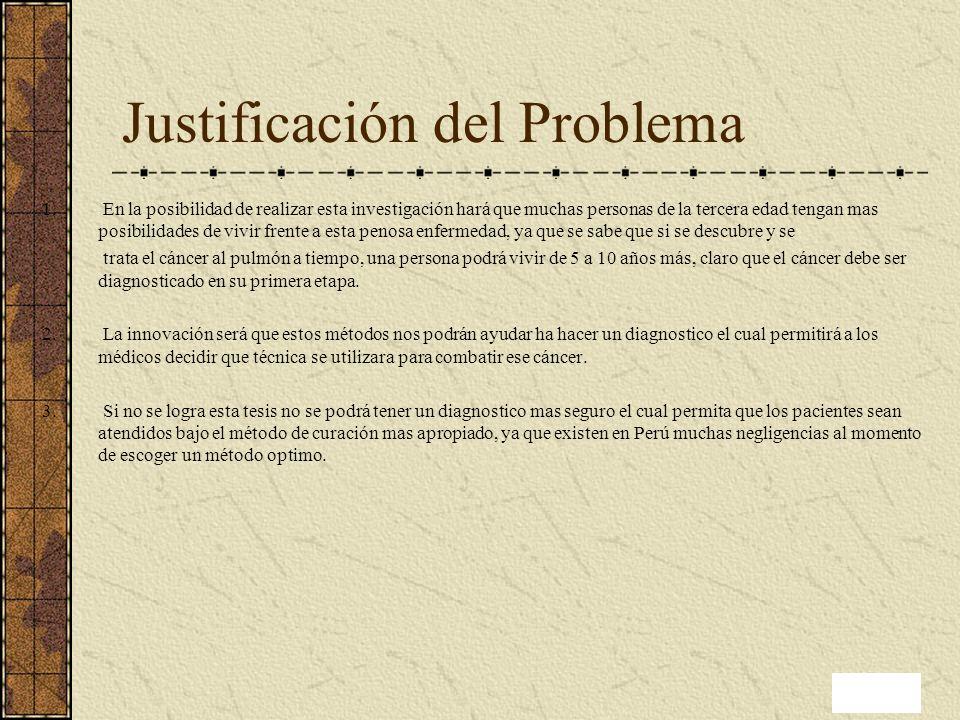 Justificación del Problema