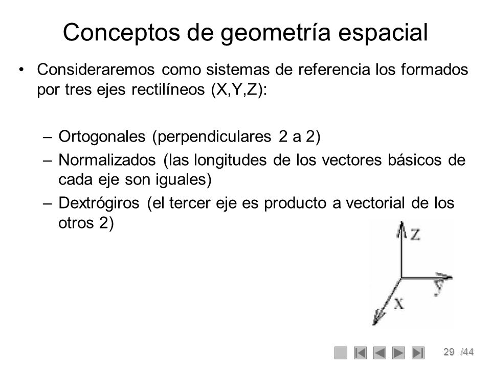 Conceptos de geometría espacial