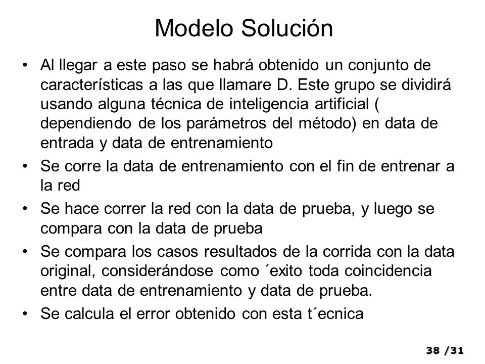Modelo Solución