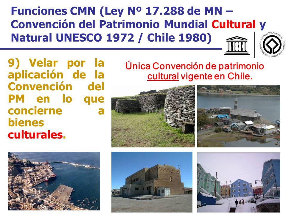 Única Convención de patrimonio cultural vigente en Chile.