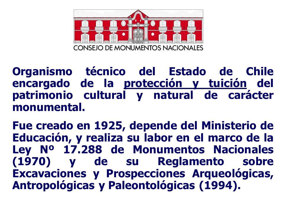 Organismo técnico del Estado de Chile encargado de la protección y tuición del patrimonio cultural y natural de carácter monumental.