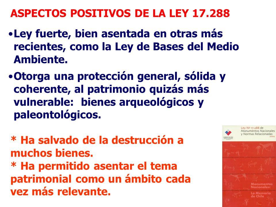 ASPECTOS POSITIVOS DE LA LEY 17.288