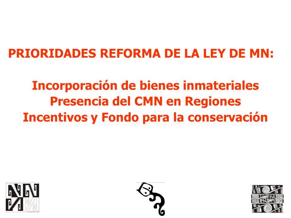 PRIORIDADES REFORMA DE LA LEY DE MN: