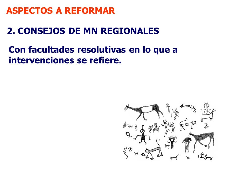 ASPECTOS A REFORMAR 2. CONSEJOS DE MN REGIONALES.